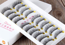 10 Pair Demi Wispies Natural Long Thick Soft Fake False Eyelashes Handmade New