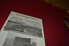 New Holland Manure Spreaders For 1975 Sale Training Manual Manual DCPA5
