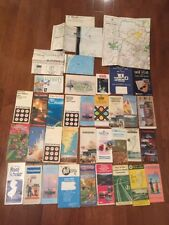Vintage Lot Of 37 Road Atlas Map Books Used