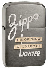 Zippo 1941 Replica Style Black Ice Lighter With Zippo Logo, # 28534, New In Box