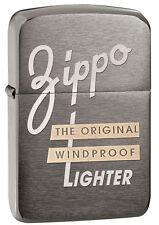 Zippo 1941 Replica Style Black Ice Lighter With Zippo Logo, # 28534, New In Box