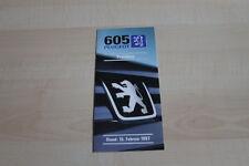 138014) Peugeot 605 - Preise & Extras - Prospekt 02/1997