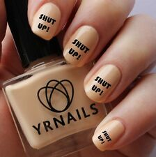 Nail WRAPS Nail Art Water Transfers Decals -  Shut Up Towie - S058