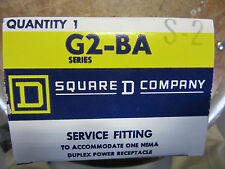 Square D G2-BA Under Floor Duct Duplex Receptacle Box 20 Amp NEW!! Free Shipping