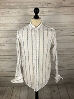 TED BAKER Shirt - Size 16 - Striped - Great Condition - Men's