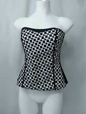 "White House Black Market ""Funny Game Geo"" Geometric Bustier Top Women's Size 4 S"