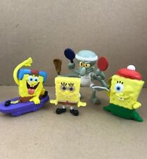 Spongebob Squarepants Lot of 4 PVC Figures Kids Meal Toys Loose