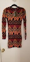 Torn by Ronny Kobo, orange Zoe dress, S, owned by Kim Kardashian West, NWT