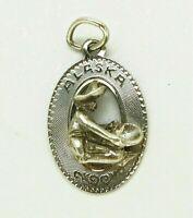 VINTAGE~CREA~ALASKA GOLD DIGGER PANNING FOR GOLD~STERLING SILVER Bracelet CHARM