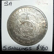 1892 SOUTH AFRICA 5/- FIVE SHILLING SILVER CROWN HIGH QUALITY RARE