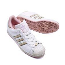 de7c3089abb3 Women s Adidas Superstar 723001 Sneaker Sz 10 White Pink Year 2004 Lace-up  Shoe