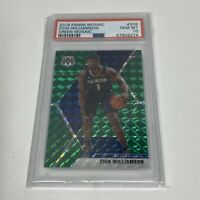 2019-20 Panini Green Mosaic Prizm #209 Zion Williamson RC Rookie PSA 10