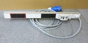 Minkels 333.3142  ALU 1HE 2xC16 8xC13 2xLS CEE 32A 250V PDU Power Strip
