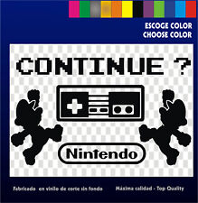 5 x Sticker Vinilo -  Collection Nintendo Mario -Pegatinas Vinyl  Bartop Arcade