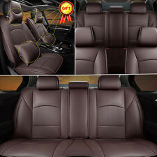 5-Seats Car Seat Cover For Ford F-150 2010-2016 Front+Rear PU Leather W/Pillows