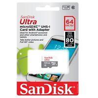 SanDisk Ultra 16GB 32GB 64GB Micro SDHC SDXC Card UHS-I C10 Full HD Video