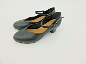 "Bloch Character Dance Shoes Mary Jane (7) fits Womens Size 6 Black 1.5"" Heel"