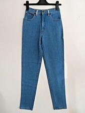 MOSCHINO, ITALY, Size 26, 10 UK, INDIGO BLUE Cotton Stretch HIGH RISE Jeans NEW