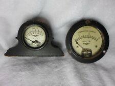 Vintage Volt Meter Gauges Jewell Electrical Instrument Co Steampunk Antiques