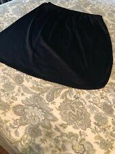 "Ladies Vassarette Black Half Slip, Size XL, 23"" Long, EUC!"