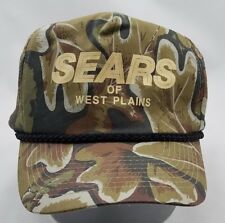 Sears Camo Leaf Snapback Cap West Plains MO Hat Liner