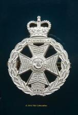 THE ROYAL GREEN JACKETS (43rd, 52nd, 60th, RB) ALL RANKS CAP BADGE