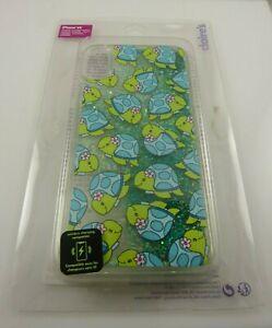 fits iPhone XR phone case Turtle Honu glower moving glitter clear greens