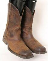 Ariat Rambler Pheonix 10010944 Brown Square Toe Cowboy Boots Men's US 11 D