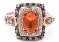 LeVian Ring Fire Opal Chocolate Diamonds RING 1cttw 14K Rose Gold NEW  Size 7