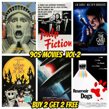90s Movie Posters Vol 2 A4 - Classic Vintage Wall Art Pub Bar Shop Cinema Decor