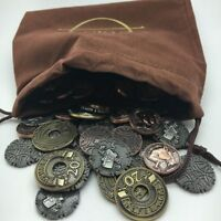 CLASSIC FANTASY: BOARD GAME COIN SET tabletop metal tokens RPG Campaign Coins