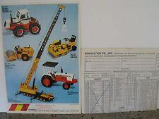 NZG CATALOG & SCHUCO 1977 ORDER FORM, VERY GOOD CONDITION