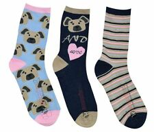 12 Pairs Ladies Girls Women's Dog Love Everyday Ankle Polyester Socks 4-6 New