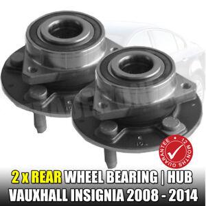 VAUXHALL INSIGNIA 2.0 CDTi REAR WHEEL BEARINGS HUB ASSEMBLY x 2 NEW 2008-2014