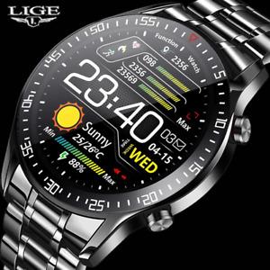 LIGE New 2021 Smart Watch Men Heart Rate Blood Pressure Information Reminder Spo
