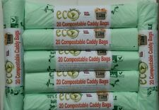 140 X 7L Compostable Caddy Bags / Bin Liners - EN13432 BioBags. EcoPlanet.