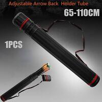 New Adjustable Arrow Quiver Shoulder Tube Archery Case Back Quiver 12-24 PCS