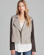 Eileen Fisher New STONE Coated Linen Asymetrical Zip Jacket PL  $258