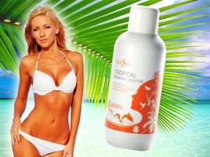 Bali Sun FAKE TAN AIR BRUSH SPRAY TANNING TROPICAL BRONZING SOLUTION 1 Litre