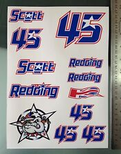 Scott Redding Stickers - Large Decal Sticker kit
