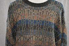 Modern Elements Medium acrylic crewneck knit sweater blue charcoal