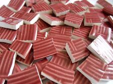 Broken China Mosaic Tiles - Rust Basket Weave mosaic tiles