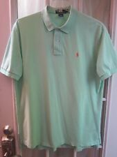 Polo by Ralph Lauen Lime Green Short Sleeve Orange PonyLogo Polo Shirt Men XL**