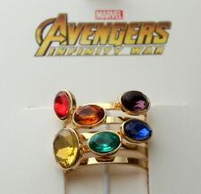 Marvel Comics Avengers Infinity War Thanos Stones Ring New NOS Box Women's