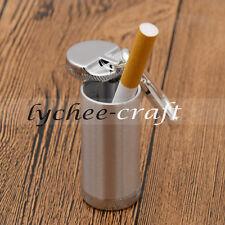 Mini Portable Metal Ashtray Keychain Gifts Keyring Ash Holder Travel Pocket