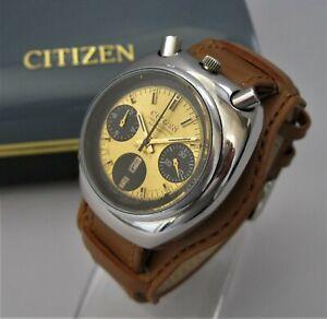 "1970's CITIZEN ""Bullhead""  BRAD PITT Auto Chronograph, Original Box & Bracelet"