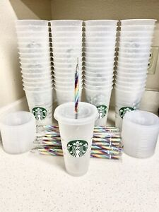 Starbucks confetti color changing cup With Clear Lid 🌈