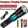 Top 1000000 Lumen L2 LED USB Flashlight Power Bank Zoom Lamp Light Waterproof US