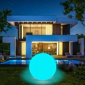 Coolwest Éclairage pour piscine flottant 40 cm 16 couleurs RGB LED Ball Lumière