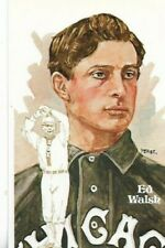 Ed Walsh Perez-Steele Hall of Fame Art Postcard Chicago White Sox #49
